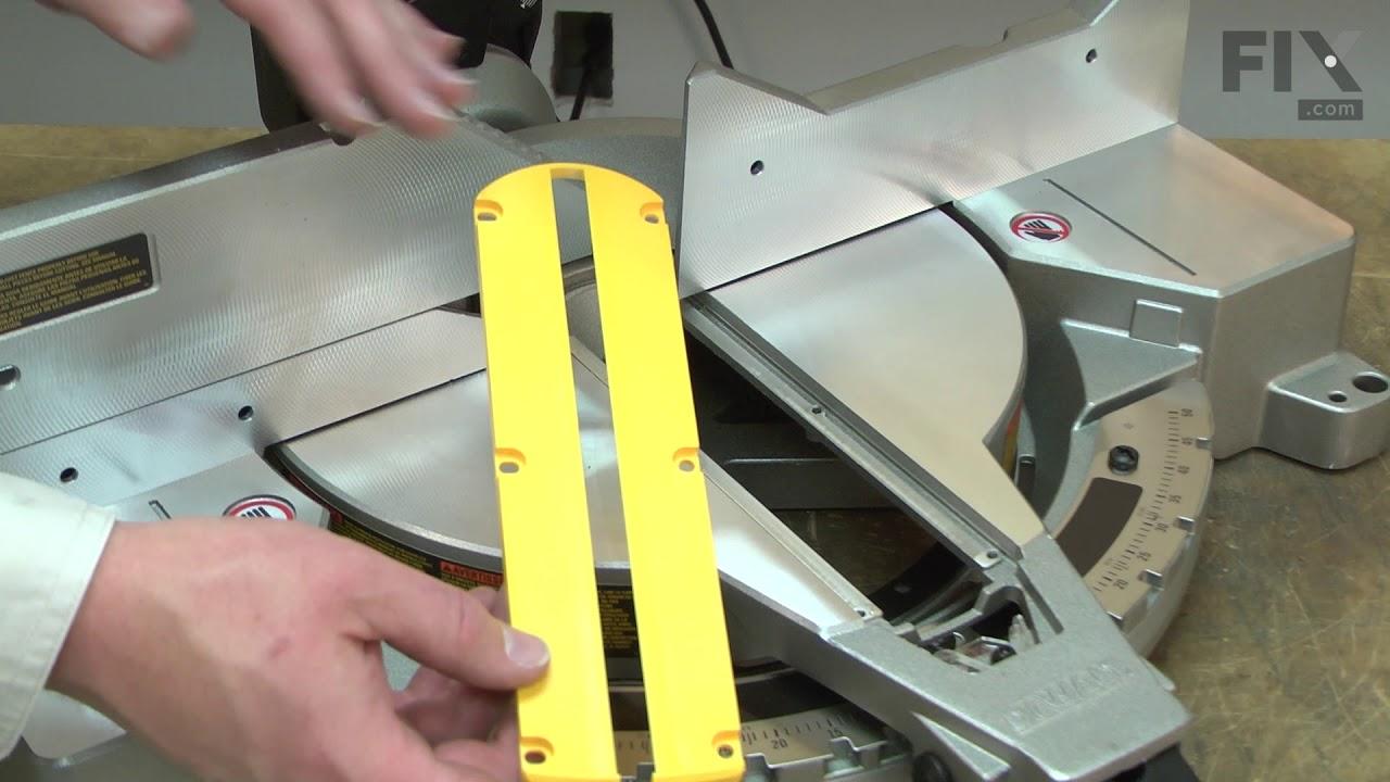 Replacing your DeWALT Miter Saw Kerf Plate