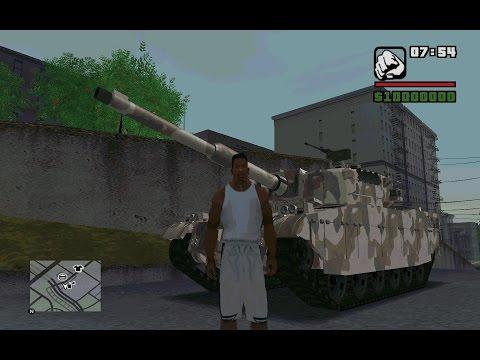 GTA V Tank Rhino Rampage in San Andreas