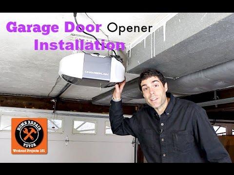 Install A New Belt Drive Garage Door Opener For A Quieter