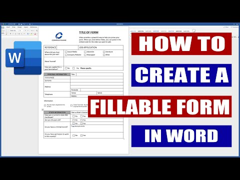 How to Create a Fillable Form in Word | Microsoft Word Tutorials ...