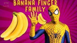 Banana Spiderman Finger Family Colours Learn Nursery Rhymes Kids Songs