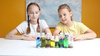 How To DIY Sensory Bottles/ Baby Discovery Bottles/ Home Made Toys/ Sis4ever/ Sabina And Luisa