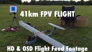 Skywalker 1900 41km Full FPV Flight - GoPro HD & OSD Flight Feed