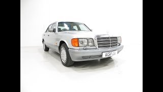 An Opulent Mercedes-Benz W126 300SE with Just 64,801 Miles and Full History - SOLD!