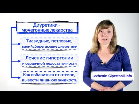 Мочегонные лекарства (диуретики) от гипертонии и сердечной недостаточности