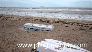 preview picture of video 'ProgresoHoy.com -- Vaciante ocasionada por el Norte en Progreso'