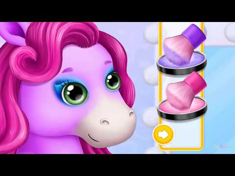 Pony Sisters Pop Music Band Play makeup, Dress up Fun Pet makeover game