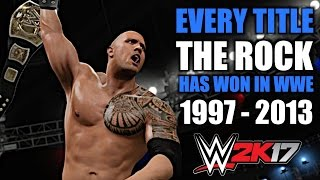 WWE 2K17: Every Title The Rock Has Won In WWE (1997 - 2013)