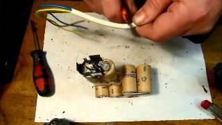 Bosch PSR 96 Zellen austauschen AKKU Schrauber an Autobatterie.wmv