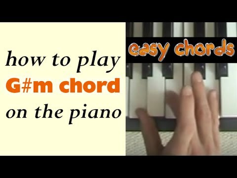 G#m Chord Piano - how to play G sharp minor chord on the piano
