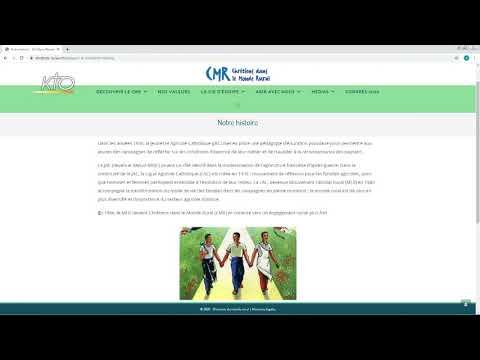 Le site web Chrétiens dans le Monde Rural