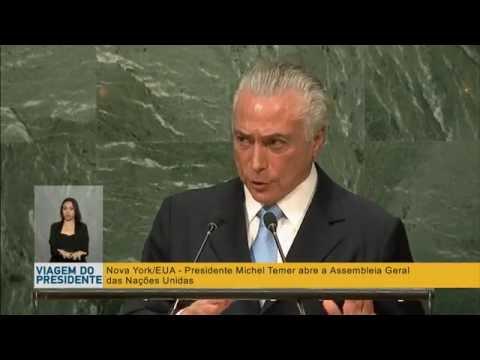 Presidente Temer discursa na abertura da 71ª Assembleia Geral das Nações Unidas