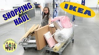 MASSIVE IKEA SHOPPING HAUL | KID SHOPPING FOR EXTREME BEDROOM MAKEOVER From IKEA | PHILLIPS FamBam