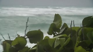Early Sunday morning at Jupiter Beach as Tropical Storm Isaias passes by