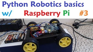 Raspberry pi with Python for Robotics 3 - Connecting 4 motors
