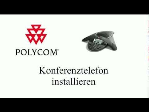 Konferenztelefon Polycom Installation