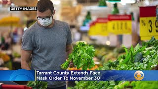 Tarrant County Extends Face Mask Order To Nov. 30