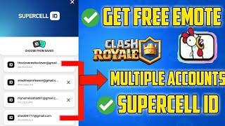 How To Make Another Clash Royale Account using the same device | how to get free emote clash royale