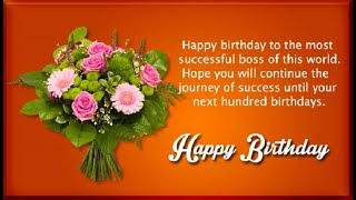 Happy Birthday Wishes For Boss  - Birthday Quotes, Messages, SMS, Greetings And Saying