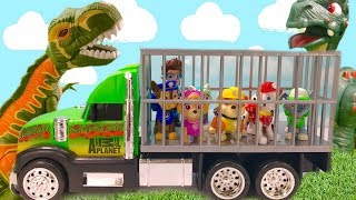 Learn Colors with Paw Patrol Dinosaur Park Rubble Helps Rescue Pups & Ryder | Fizzy Fun Toys