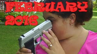 STUPID PEOPLE SHOOTING GUNS FAIL BEST COMPILATION February 2016