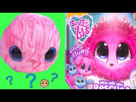 Fluffy Bath Water Plush Pet Blind Bag Ball ! Scruff A Luvs