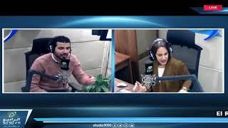 محمد أنور : مراتى ميبانش عليها بس هى كوميدية فى الحقيقة | مع فاطمة مصطفي في الراديو بيضحك