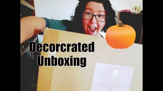 Decocrated Subscription Box Unboxing   Fall 2018