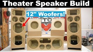 Home Theater Speakers Build | Diy Sound Group 1299 And Volt 10