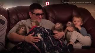Стала мамой для 5 ти обезьян (Eng Sub)