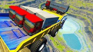 Leap Of Death Car Jumps & Falls #10 BeamNG drive