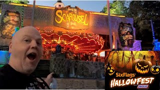 First night of Hallow Fest at Six Flags Over Texas - A brief look at the scare zones