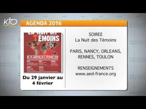 Agenda du 22 janvier 2016