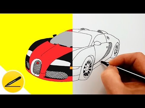 How To Draw A Car - Bugatti Veyron ★ Mp3