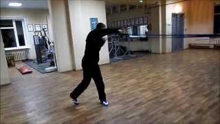 Бокс работа на резине(Boxing work on the rubber)