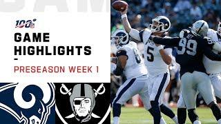 Rams vs. Raiders Preseason Week 1 Highlights | NFL 2019