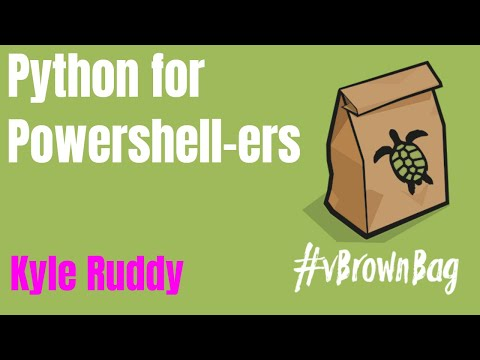 vBrownBag - Python for PowerShellers