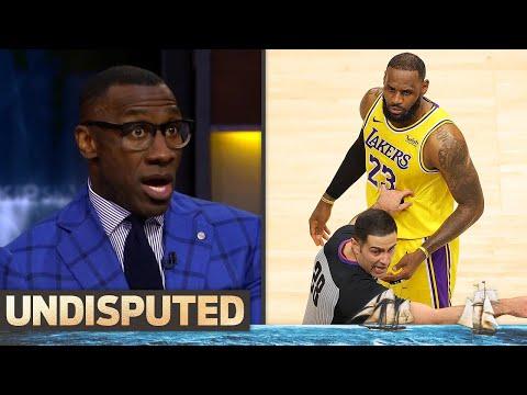 Skip & Shannon on LeBron's bizarre interaction w/ courtside fan & win at Hawks | NBA | UNDISPUTED