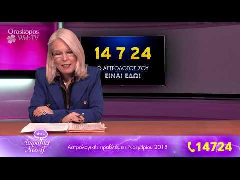Αστρολογικές Προβλέψεις Νοεμβρίου 2018, σε βίντεο