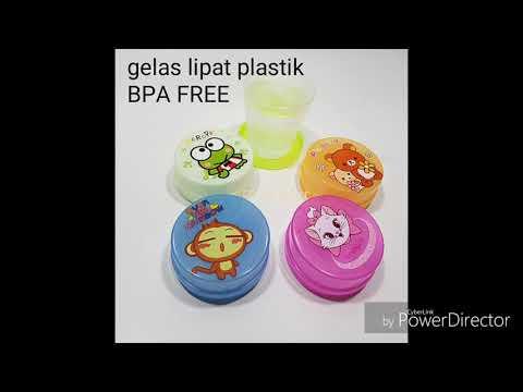 Gelas Unik Bisa Dilipat dan Berbahan Plastik Cocok Buat dibawa camping atau traveling