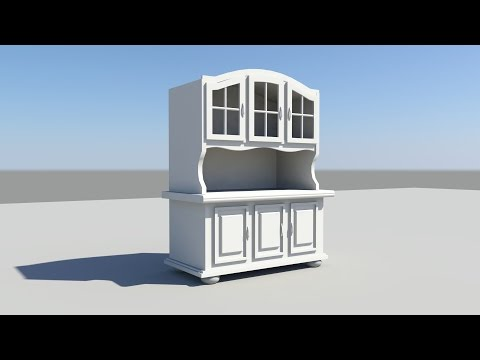 Maya tutorial: How to model a Cabinet