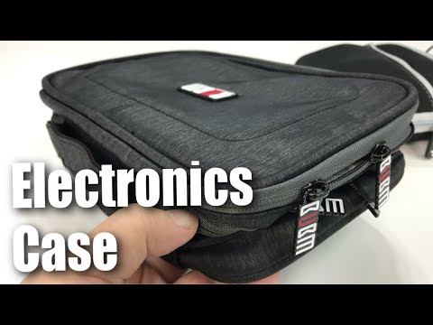 """BUBM 7.9"""" Travel Universal Cable Organizer Electronics Accessories Cases Review"""