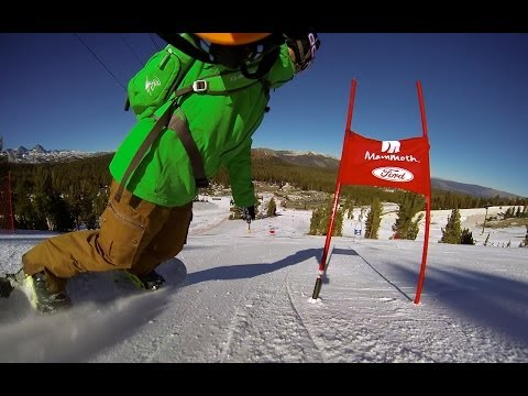 Mammoth Mountain Race Course on a Snowboard