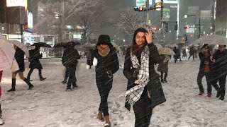 First Snowfall Experience in TOKYO, JAPAN (TOKYO SNOWMAGGEDON) | WINTER in JAPAN - GraceFord Travel