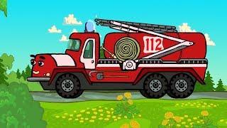 Котяткины машинки - Машины-спасатели: Скорая помощь, Пожарная машина, МЧС - Песни для детей