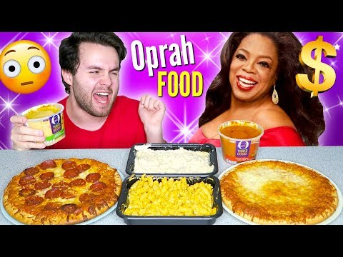 TRYING OPRAH'S LUXURY FROZEN FOOD! – Pizza, Mac N' Cheese, and MORE Taste Test!