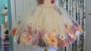 Making a Flower Fairy Dress - Part one