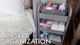 Baby Nursery Cart & Closet Organization! | Shared Bedroom