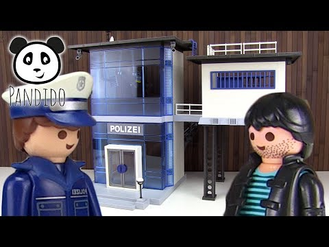 ⭕ PLAYMOBIL Polizei - Polizeistation mit Alarmanlage - Pandido TV