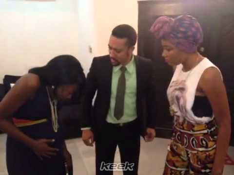Majid Michel, Beverly Naya and Mbong Amata's Azonto skills on 'Forgetting June'!